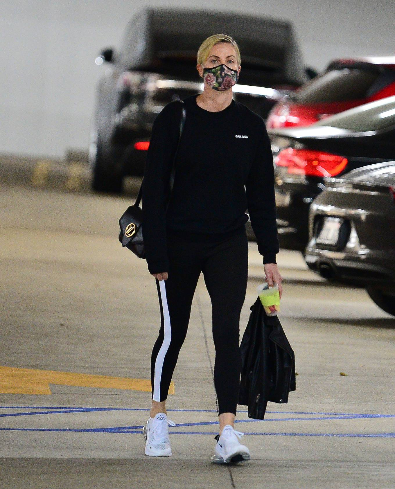 Charlize Theron - Leaving a hospital in Los Angeles