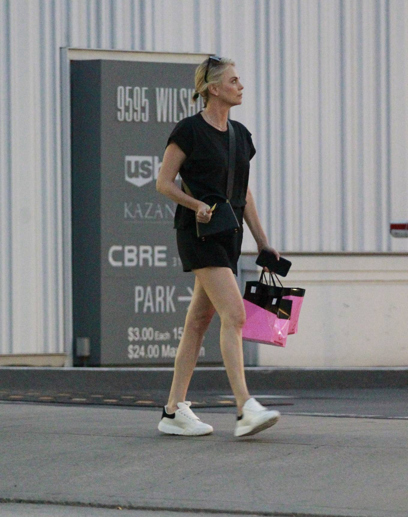 Charlize Theron - Leaving Mr Chow Restaurant in Beverly Hills