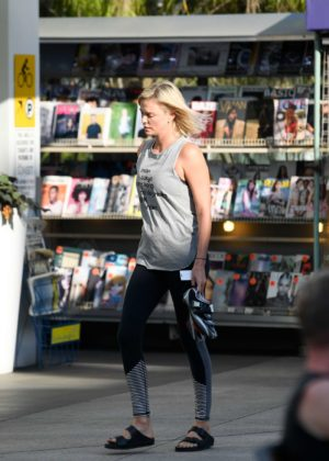 Charlize Theron - Leaving SoulCycle in Los Angeles