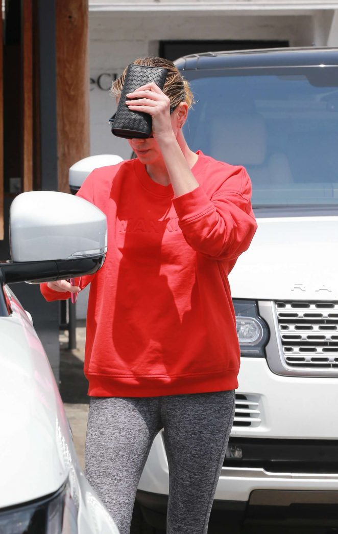Charlize Theron - Leaving the Hair Salon in LA