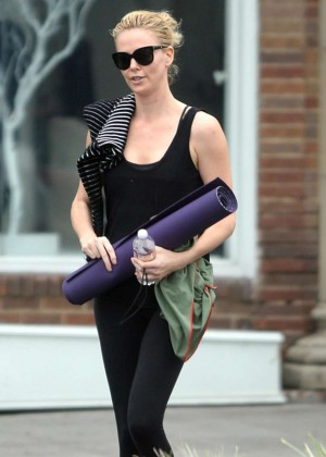 Charlize Theron in Tights - Leaving Yoga Class in West Hollywood
