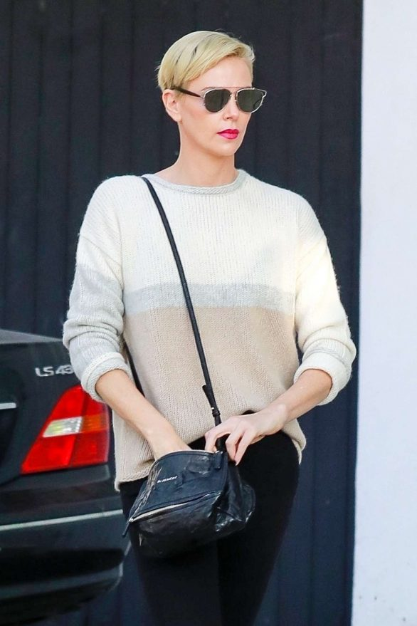 Charlize Theron - Makes a solo trip to a furniture store in Los Angeles