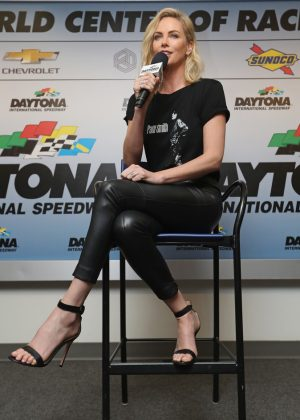 Charlize Theron - NASCAR Cup Series 60th Annual Daytona 500 in Florida