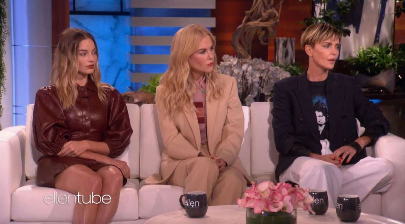 Charlize Theron, Nicole Kidman and Margot Robbie - On The Ellen Show in LA