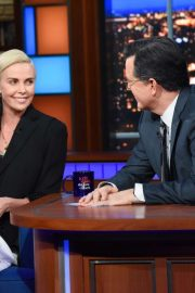 Charlize Theron - On The Late Show with Stephen Colbert in NYC