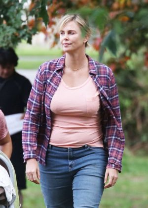 Charlize Theron on the set of 'Tully' in Vancouver