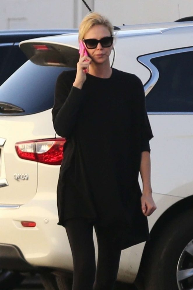 Charlize Theron - Out and about in Van Nuys