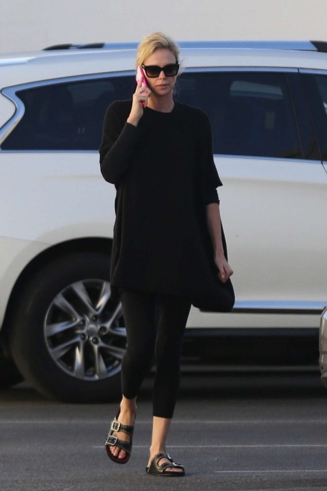 Charlize Theron: Out and about in Van Nuys -02