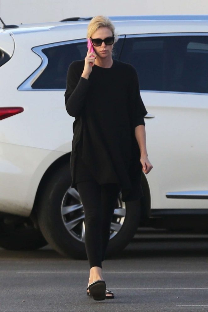 Charlize Theron: Out and about in Van Nuys -03