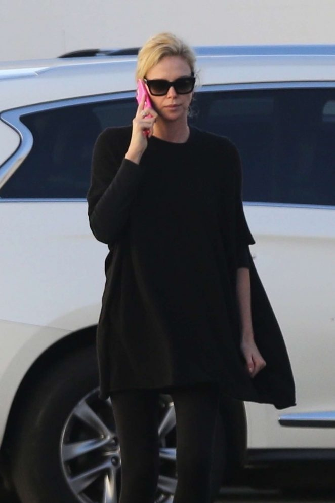 Charlize Theron: Out and about in Van Nuys -05