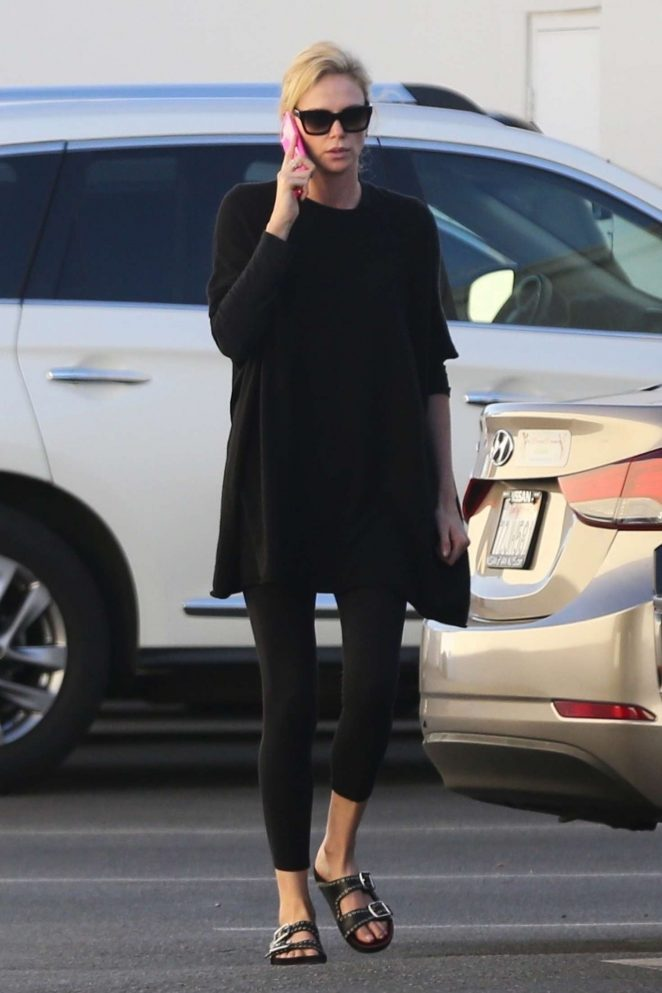 Charlize Theron: Out and about in Van Nuys -06