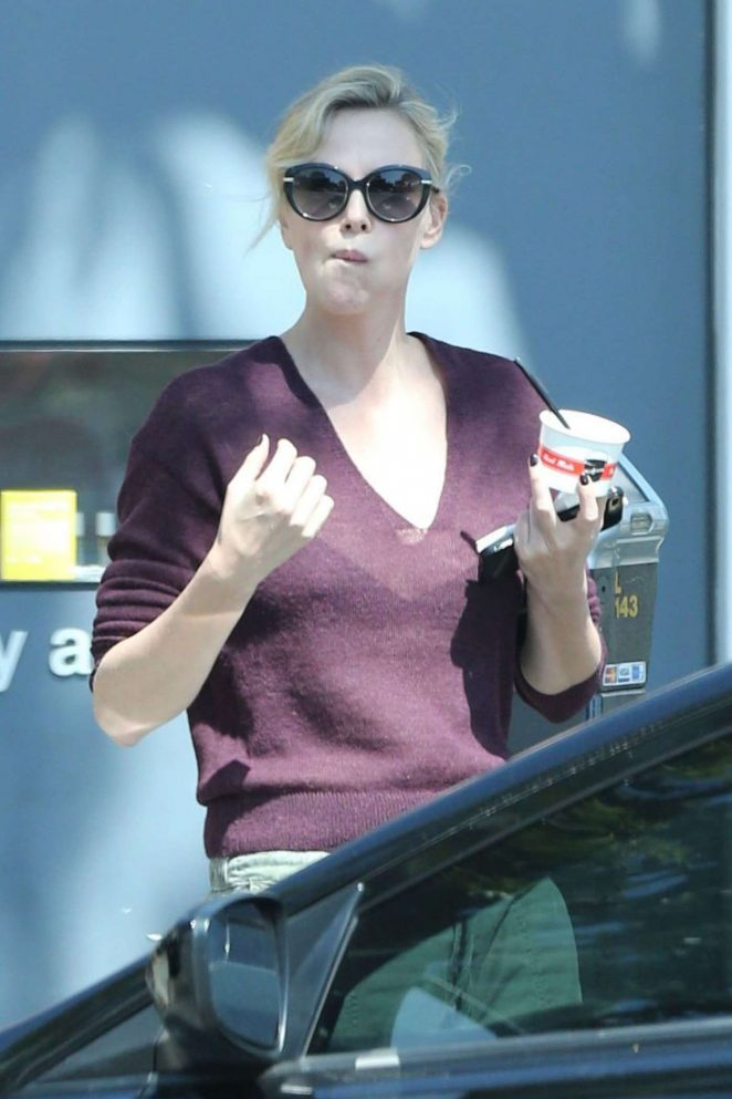 Charlize Theron Out for Ice Cream in Los Angeles