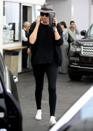 Charlize Theron out for lunch at E Baldi in Beverly Hills