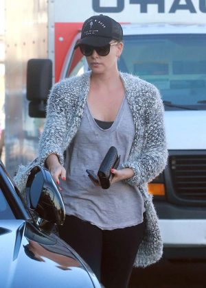 Charlize Theron out for lunch in Los Angeles