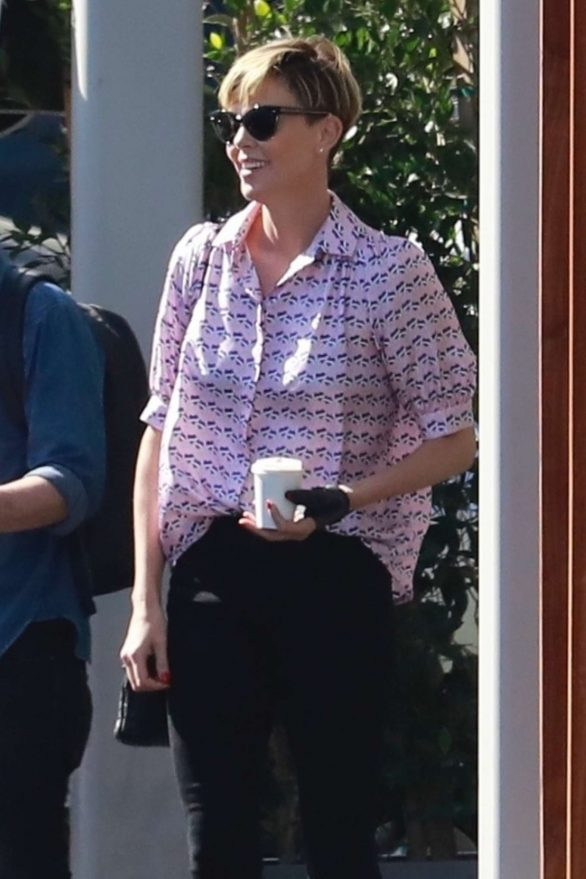Charlize Theron - Out in Culver City
