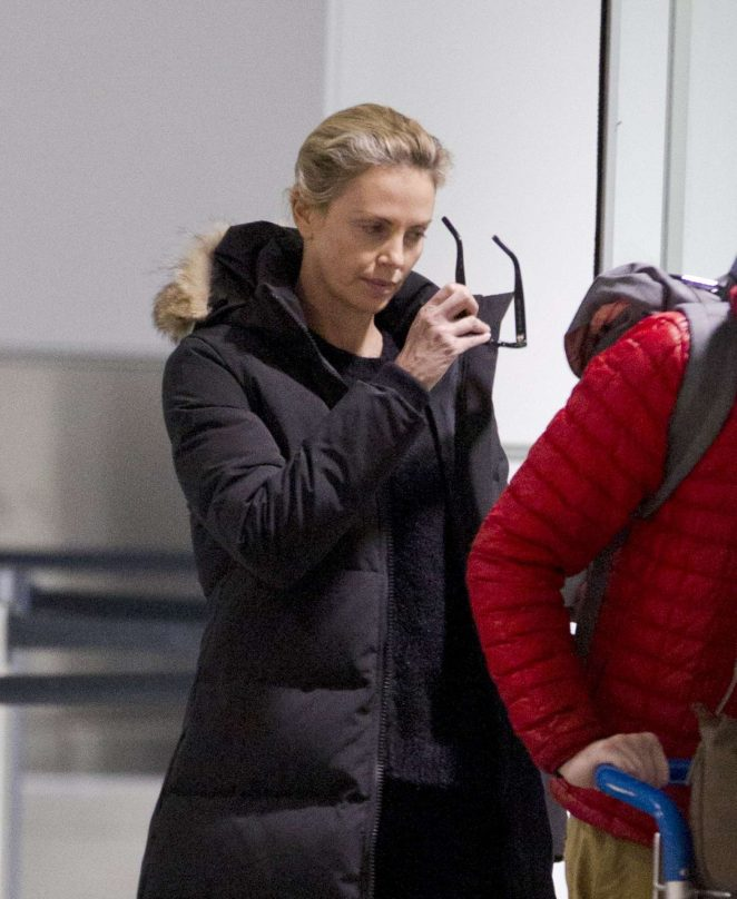 Charlize Theron out in Montreal