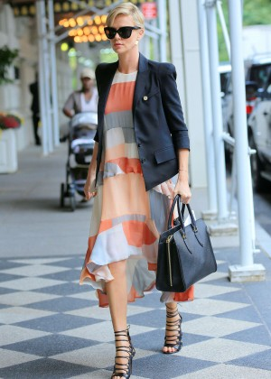 Charlize Theron out in New York