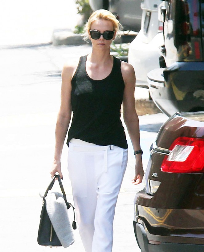 Charlize Theron out in Santa Monica