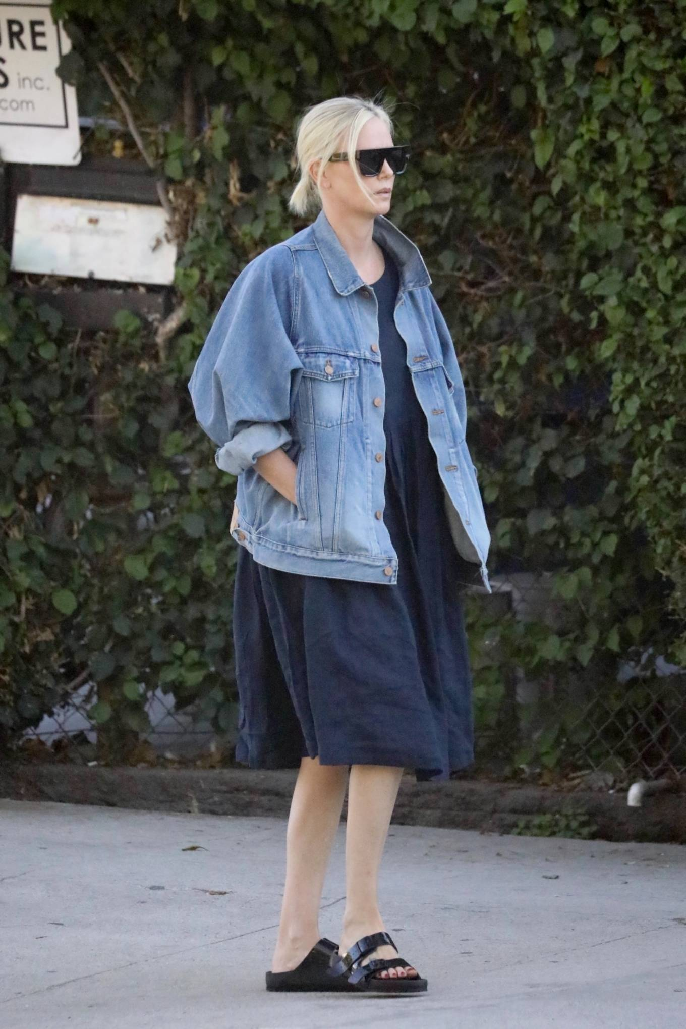 Charlize Theron - Seen after visiting Creature Effects manufacturer in Los Angeles