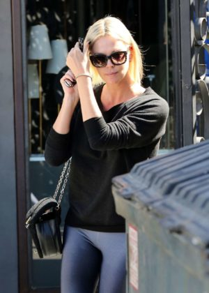 Charlize Theron - Seen Leaving the 901 Salon in West Hollywood