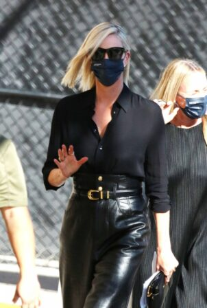 Charlize Theron - Seen on Jimmy Kimmel Live in West Hollywood