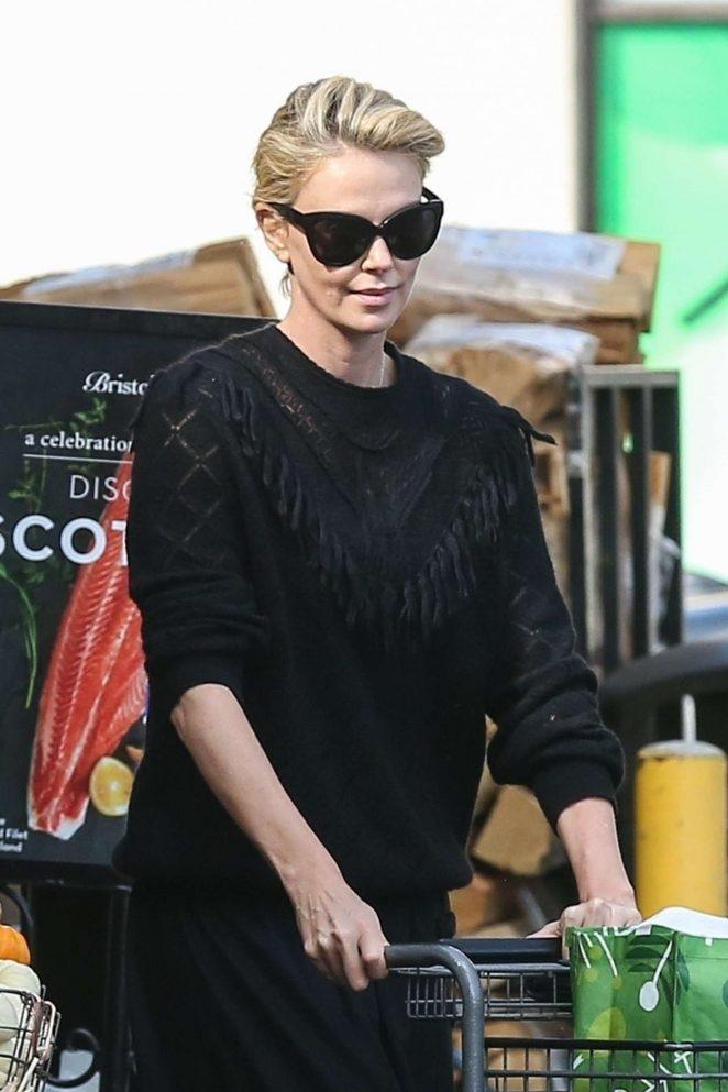 Charlize Theron - Shopping at Bristol Farms in Hollywood