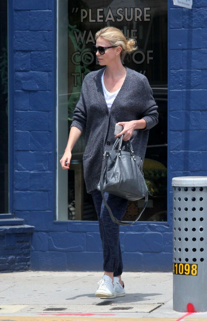 Charlize Theron Shopping in Los Angeles