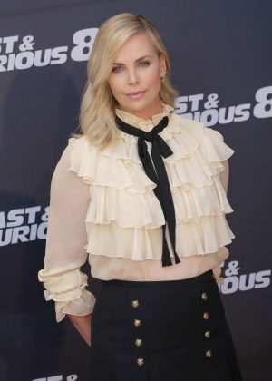 Charlize Theron - 'The Fate of the Furious' Photocall in Madrid