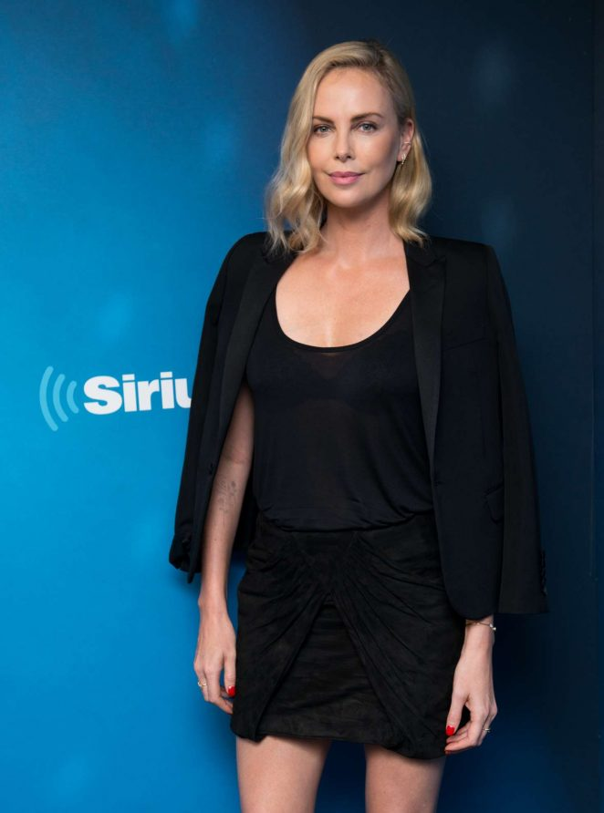 Charlize Theron visits '80s on 8' at the SiriusXM Studios in NYC