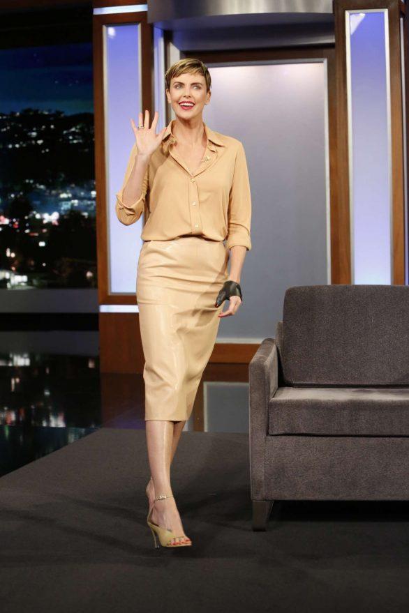 Charlize Theron 2019 : Charlize Theron – Visits Jimmy Kimmel Live-01
