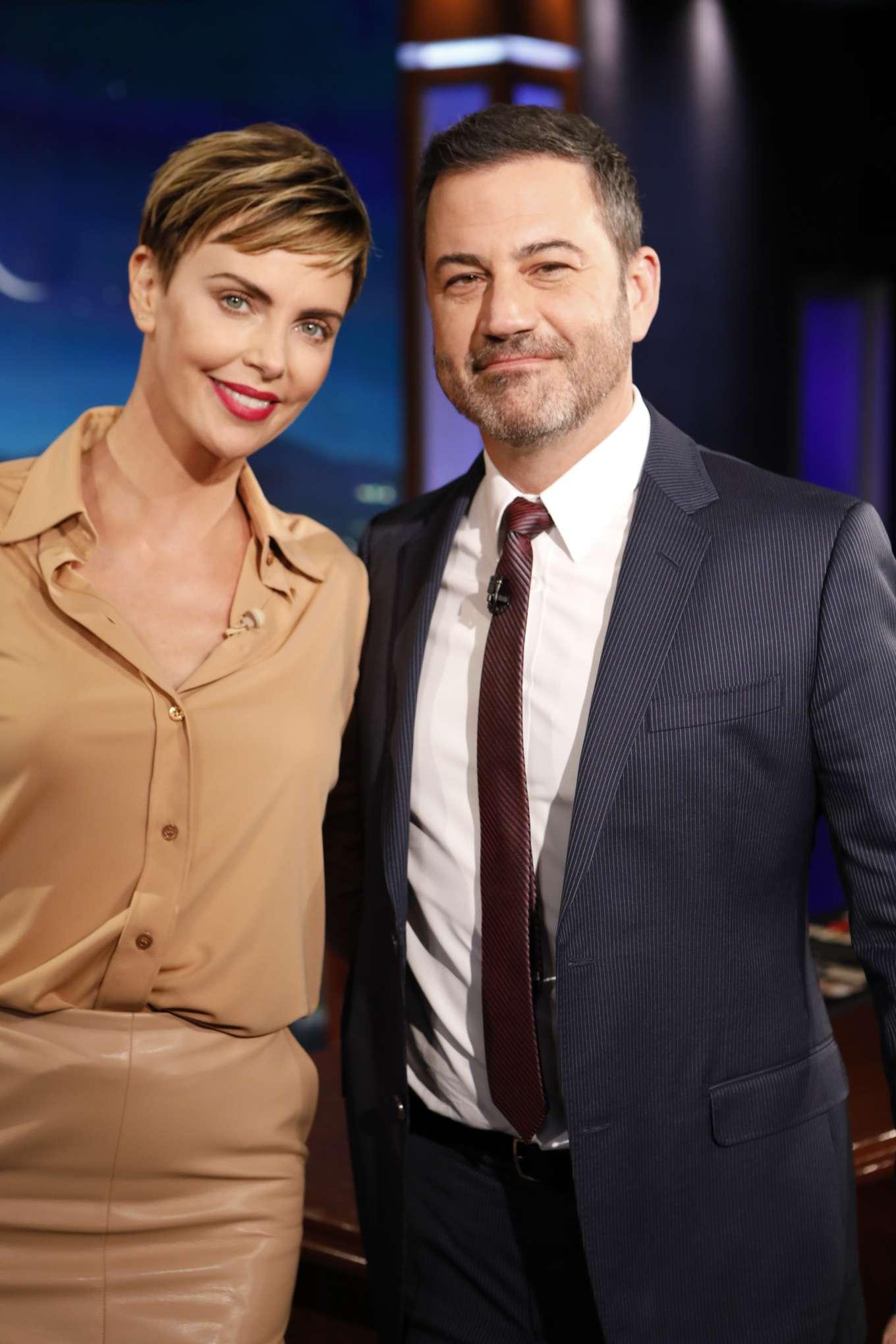 Charlize Theron 2019 : Charlize Theron – Visits Jimmy Kimmel Live-02