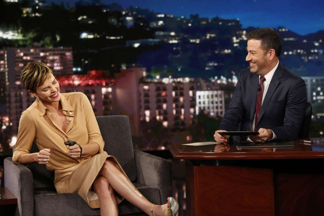 Charlize Theron 2019 : Charlize Theron – Visits Jimmy Kimmel Live-03