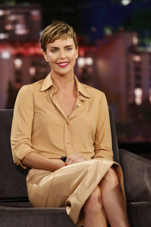 Charlize Theron - Visits Jimmy Kimmel Live! in Hollywood