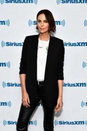 Charlize Theron - Visits SiriusXM Studios in New York City
