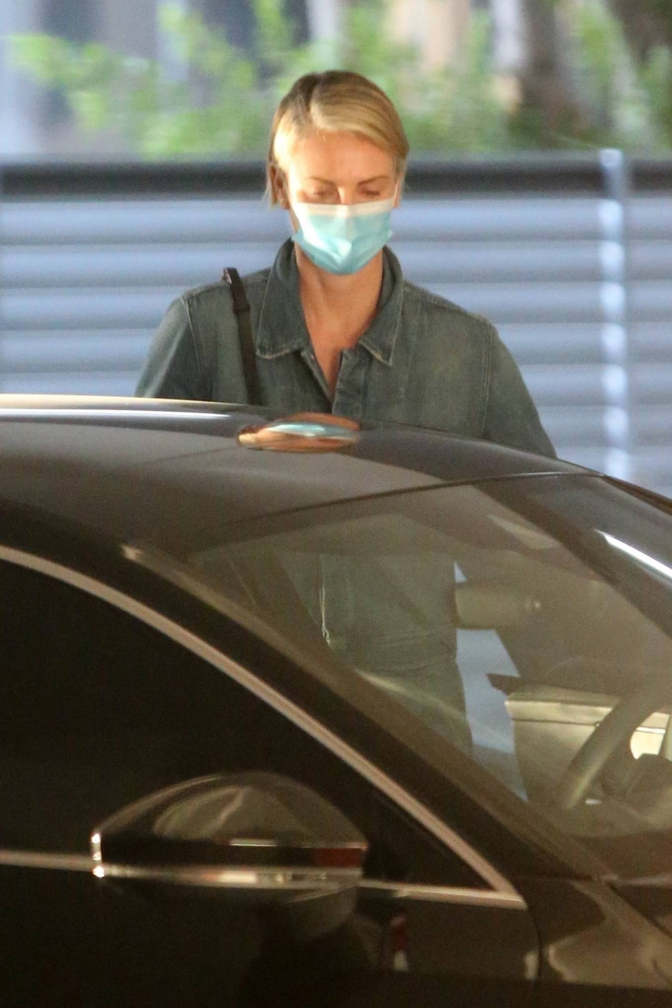 Charlize Theron - Visits the hospital in Los Angeles