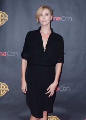 Charlize Theron: WB 2015 Cinemacon Press Line -01