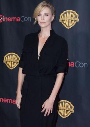 Charlize Theron: WB 2015 Cinemacon Press Line -04