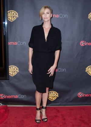 Charlize Theron: WB 2015 Cinemacon Press Line -05