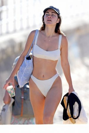 Charlotte Best - In white bikini at a Bondi Beach
