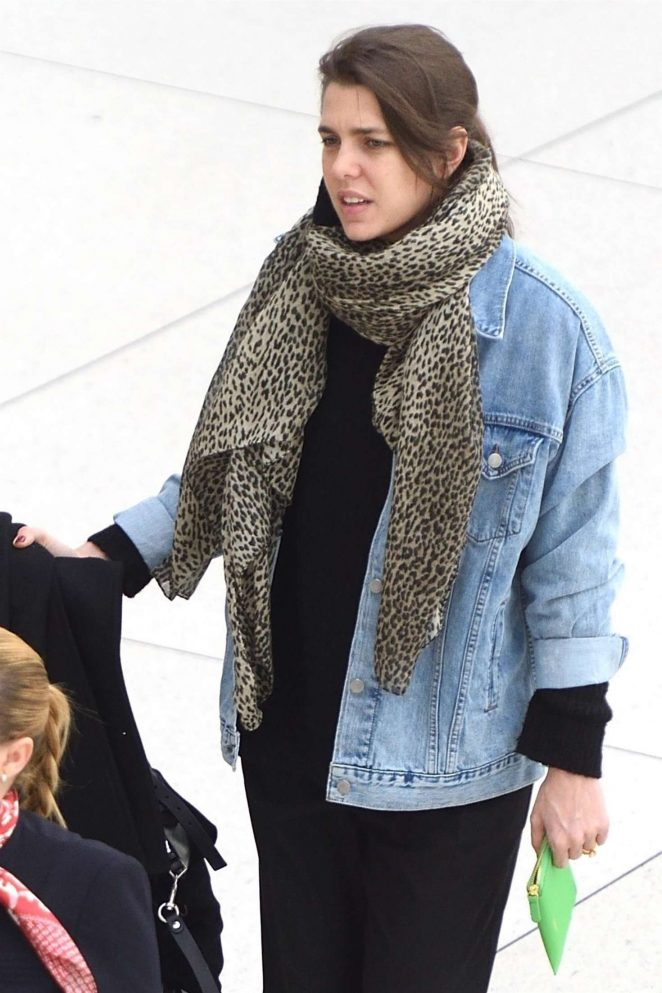 Charlotte Casiraghi – Arrives at JFK airport in New York City