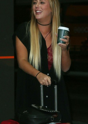 Charlotte Crosby Arriving at Perth Domestic Airport in Perth
