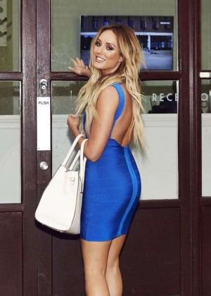 Charlotte Crosby in Tight Dress heading for a photoshoot in London