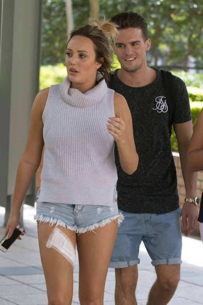 Charlotte Crosby in Jeans Short out in Sydney