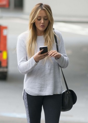 Charlotte Crosby in Spandex at the gym in Sydney