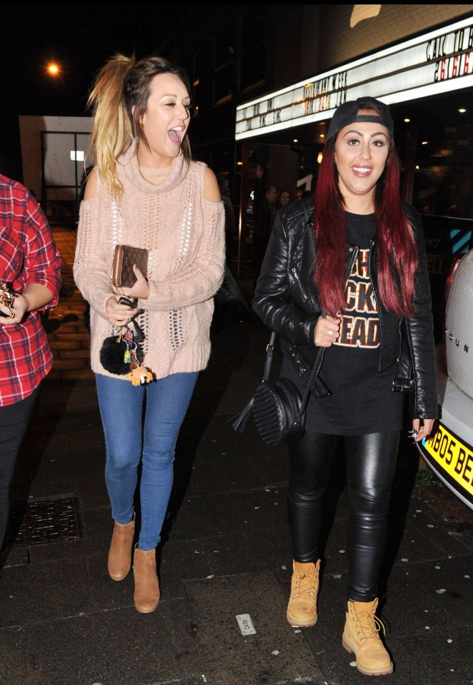 Charlotte Crosby and Sophie Kasaei out in Newcastle