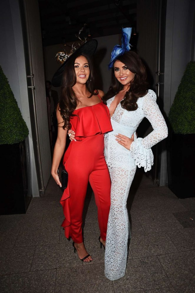 Charlotte Dawson and Shelby Tribble at Layla Leigh's hat collection launch party in London