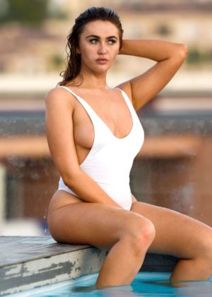 Charlotte Dawson in a Swimsuit in Malaga