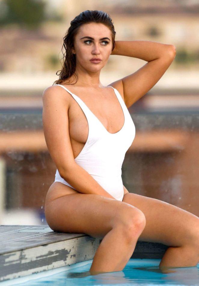 Charlotte Dawson in a Swimsuit in Malaga