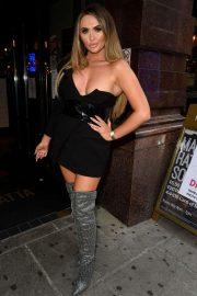 Charlotte Dawson in Black Mini Dress - Out in Manchester