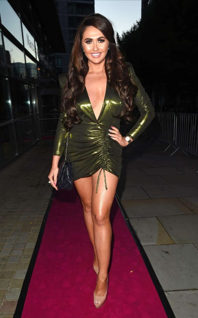 Charlotte Dawson - Leaving The Spice Girls Exhibition in Manchester